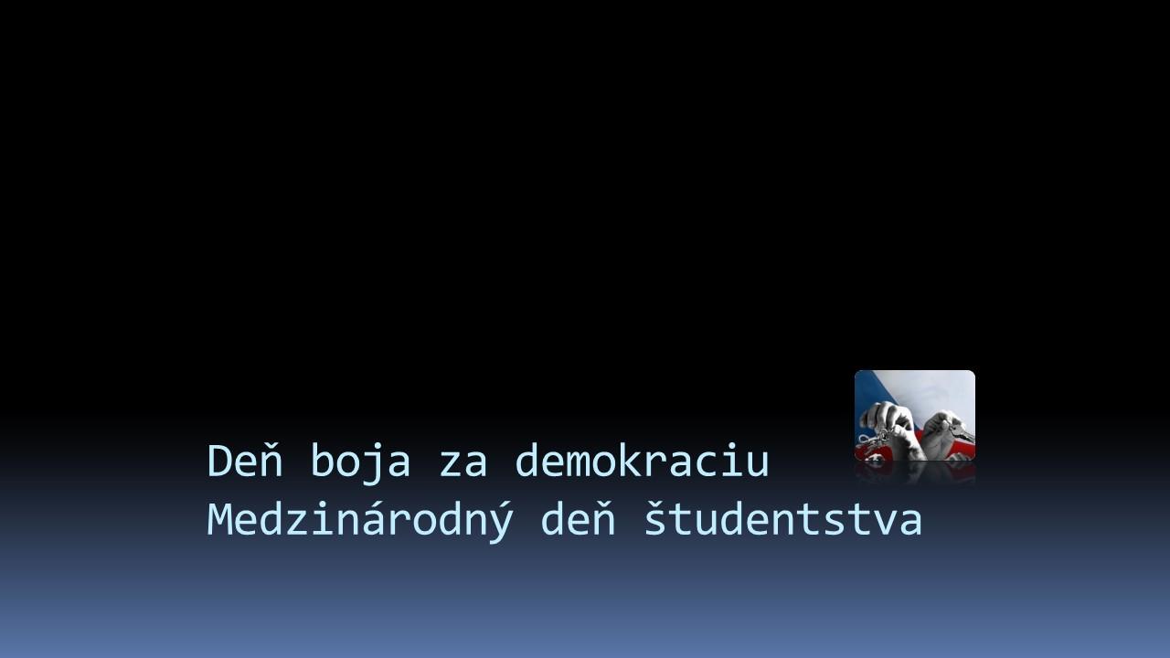 Deň boja za demokraciu new